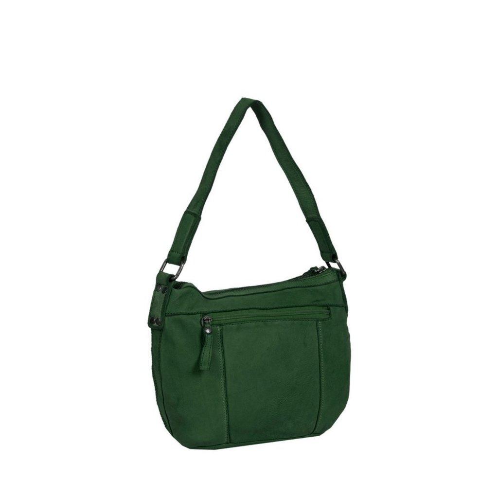 Simone Shoulderbag Dark Green Medium