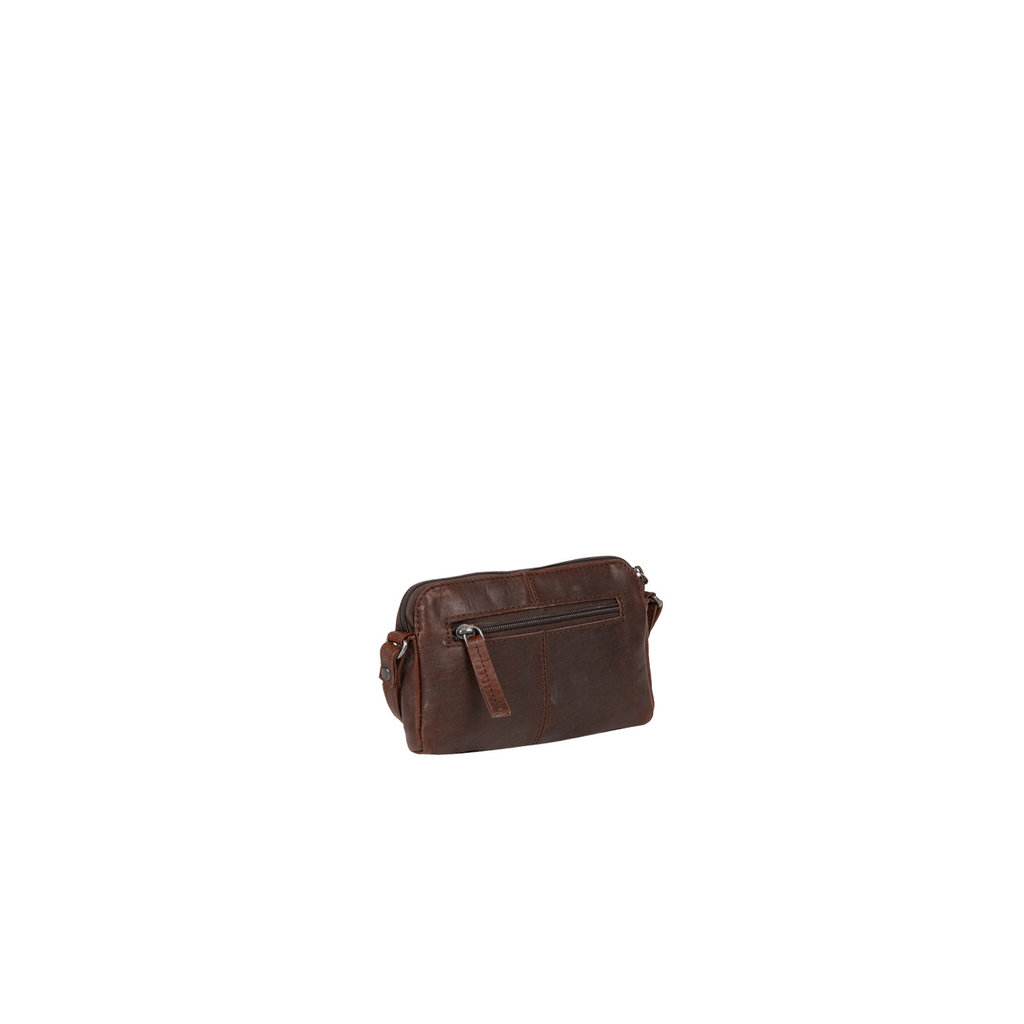 Justified Bags® Nynke Small Front Pocket Shoulderbag Brown