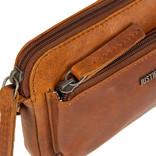 Justified Bags® Nynke Small Front Pocket Schoudertas Cognac