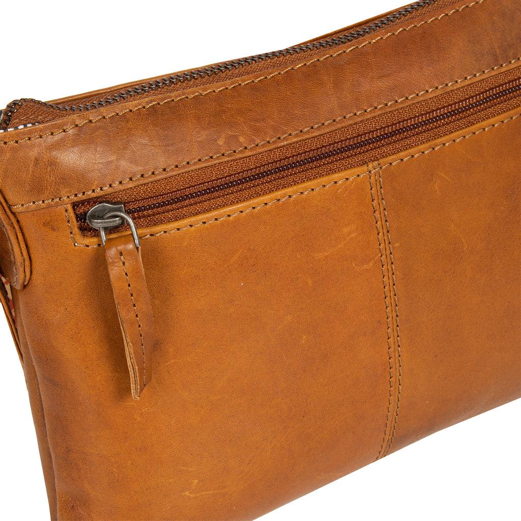Justified Bags®  Nynke Medium Front Pocket Shoulderbag Cognac