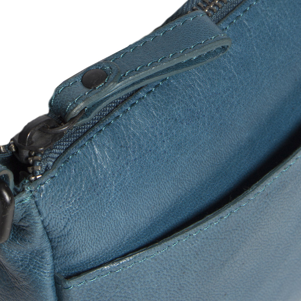 Belukha Small Top Zip Front Pocket Shoulderbag Ocean Blue