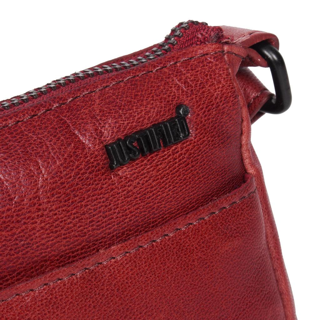 Belukha Small Top Zip Front Pocket Shoulderbag Burgundy