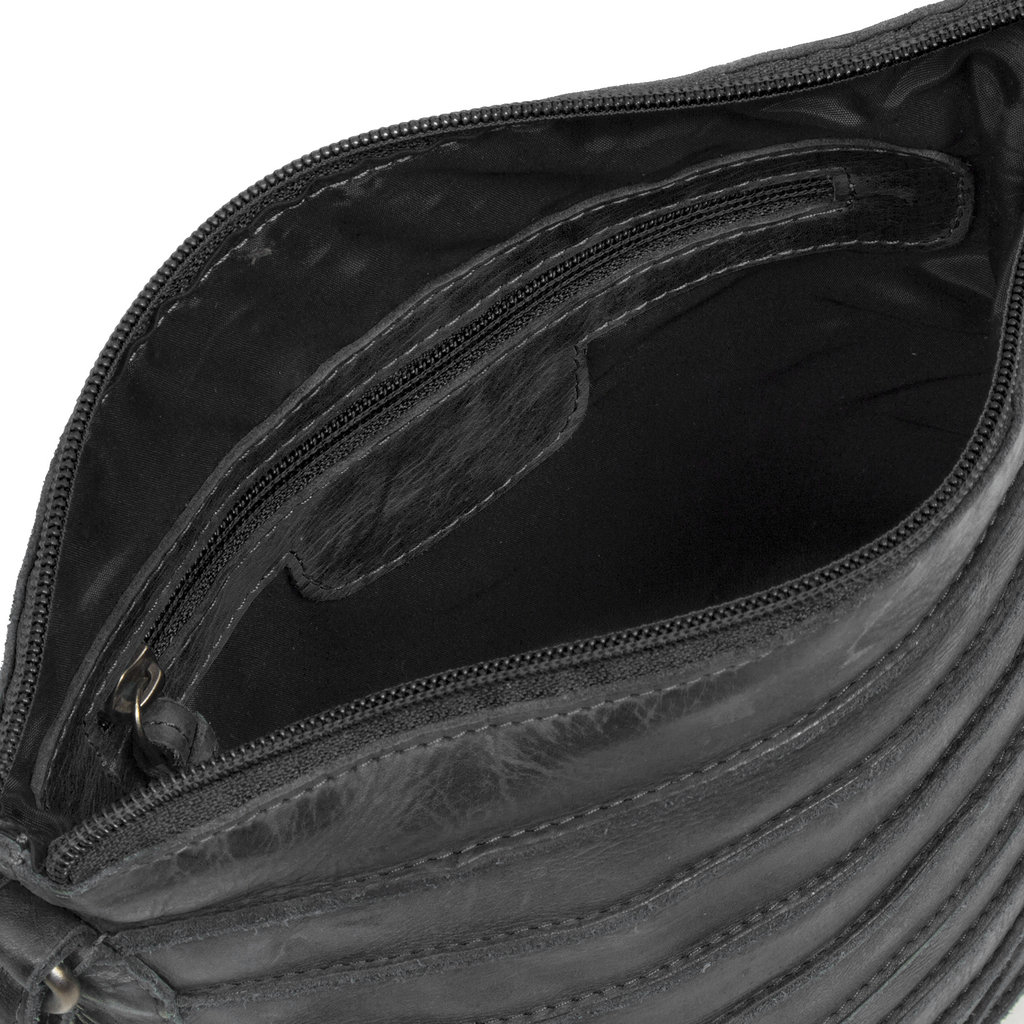 Batura Top Zip Black
