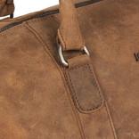 Justified Bags® - Mercure - Weekendtas - Reistas - Laptopvak - Leer - Cognac