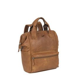 Justified Bags® Yara City Lederen Backpack / Rugtas  Cognac