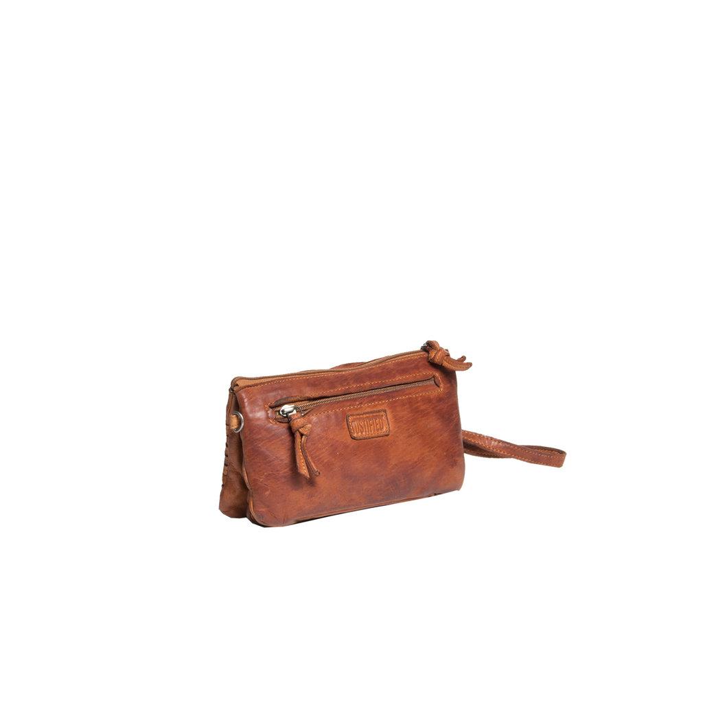 Justified Bags® - Chantal - Schoudertas - Leer - Cognac