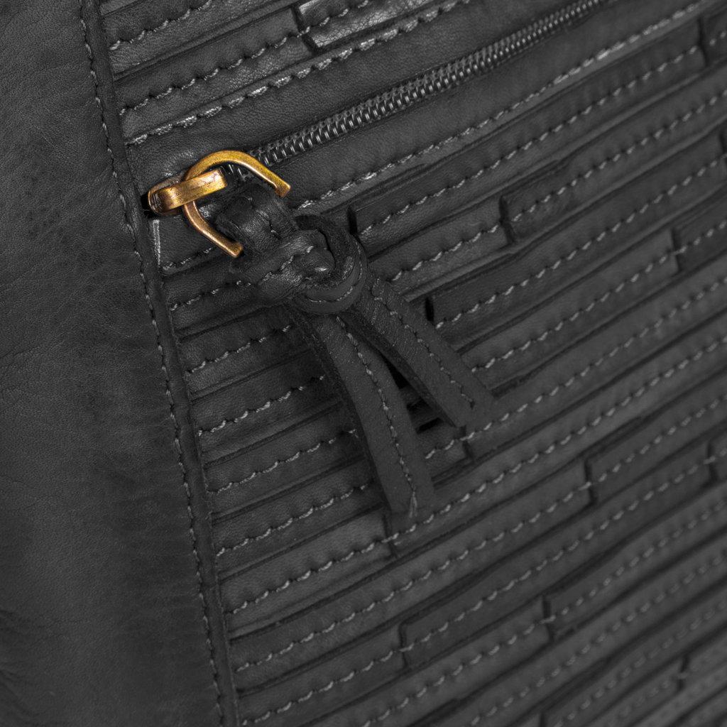 Chantal Top Zip Shoulderbag Black
