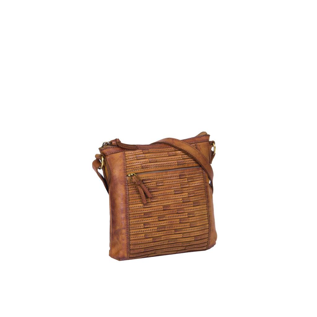 Chantal Top Zip Shoulderbag Cognac
