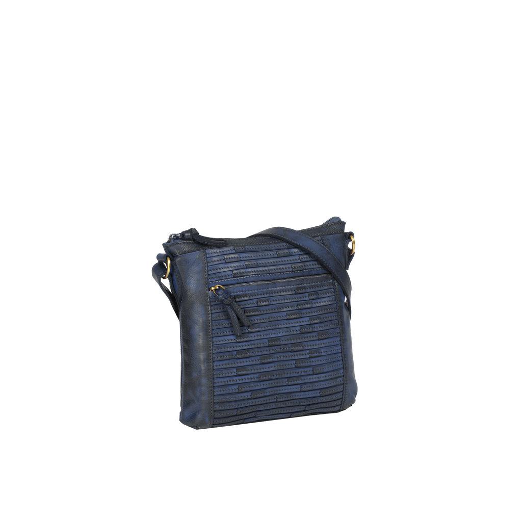 Chantal Top Zip Shoulderbag Navy