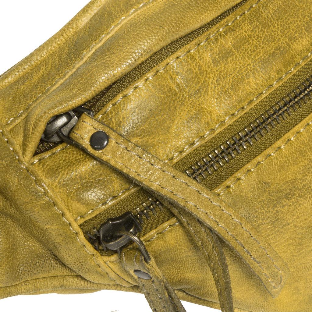 Justified Bags® - Sakura - Heuptas - Fanny Pack - Multifunctioneel -  Leer - Oker