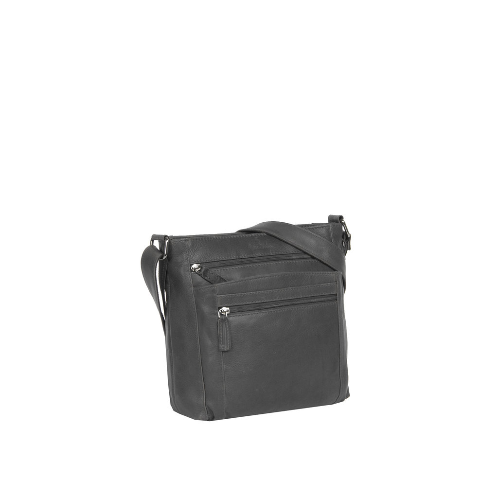 Justified Bags®  Yara Medium Top Zip Black