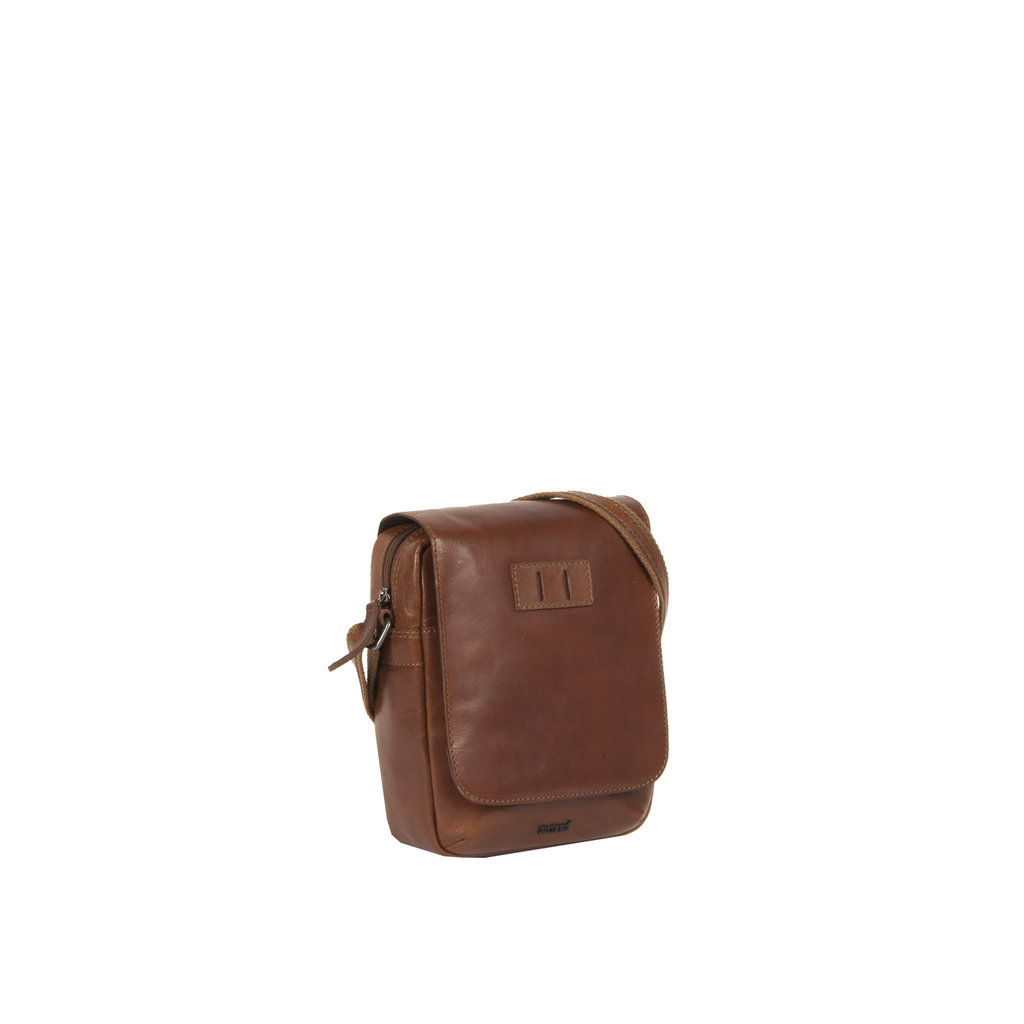 Justified Bags® Titan Small Flapover Cognac