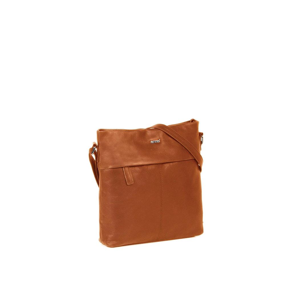 Justified Bags® Yara Medium Top Zip Cognac