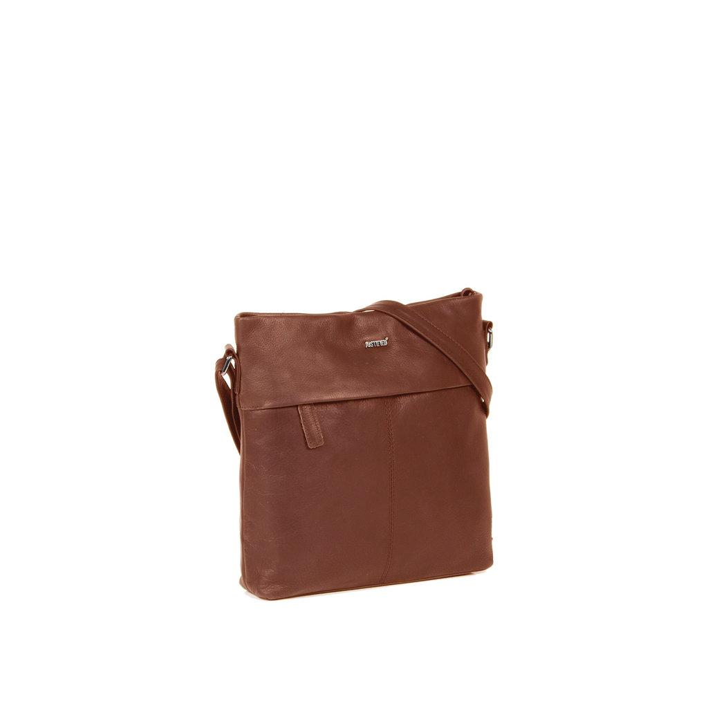 Justified Bags® Yara Medium Top Zip Brown
