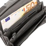 Justified® - Roma - Portemonnee - Wallet - Leer - Grijs