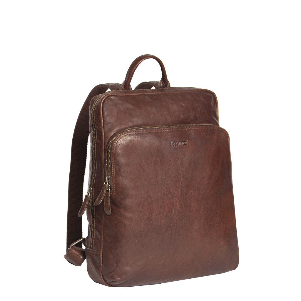 Everest Laptoptas  Documenten Backpack Brown
