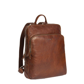 Justified Bags® Everest Laptoptas  Documenten Rugtas / Backpack Cognac