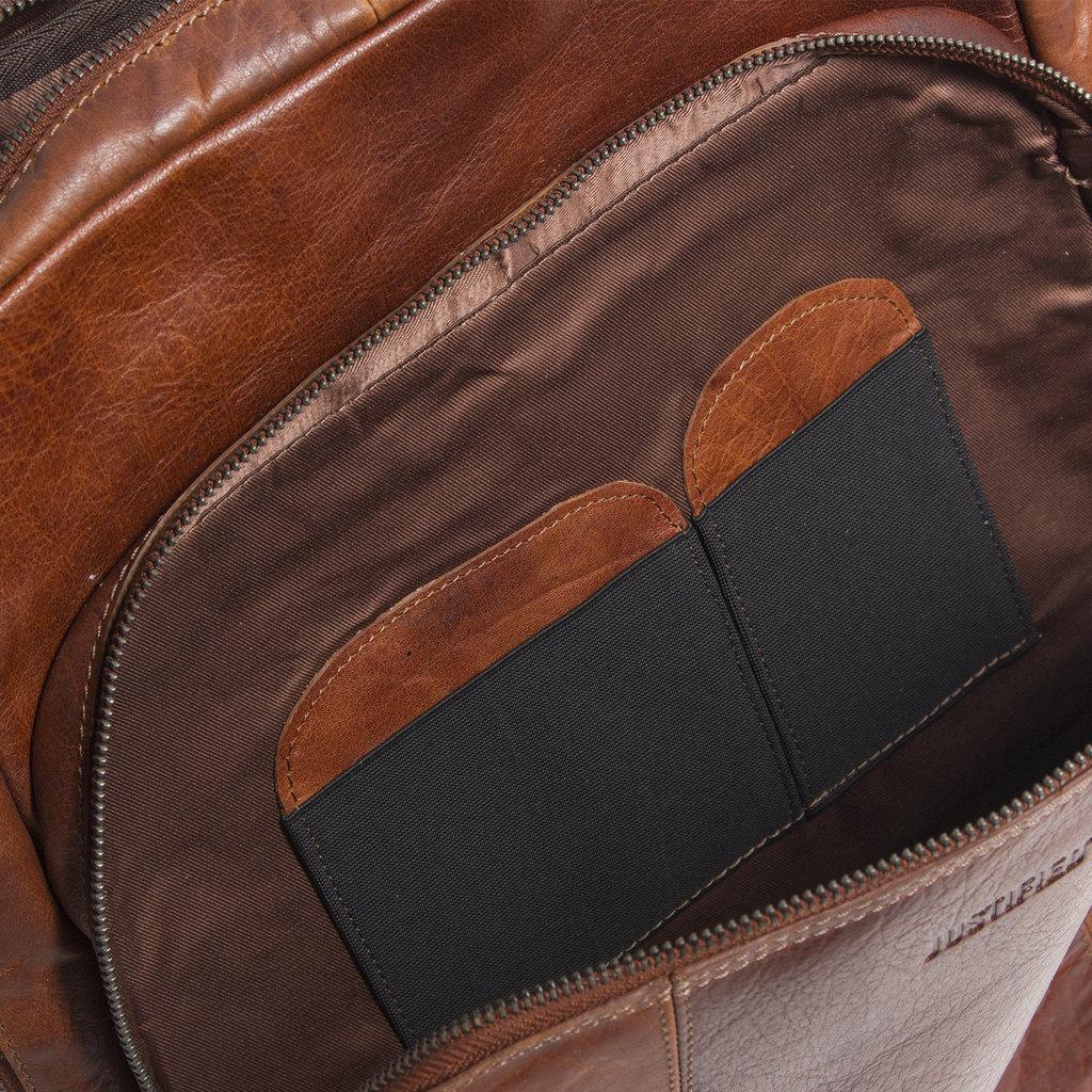 Justified Bags® Everest Laptoptas  Documenten Backpack Cognac