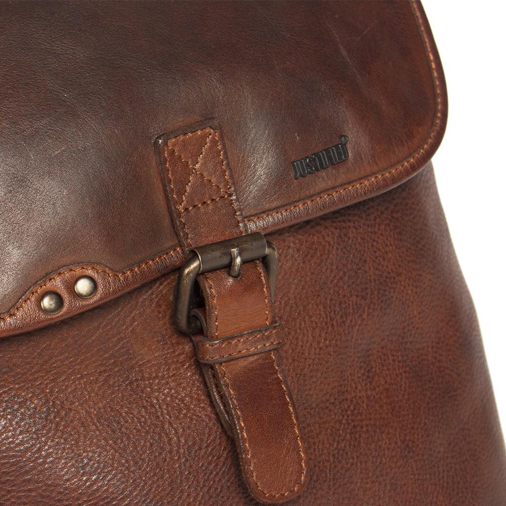 Justified Bags® Goa Lederen Backpack Cognac