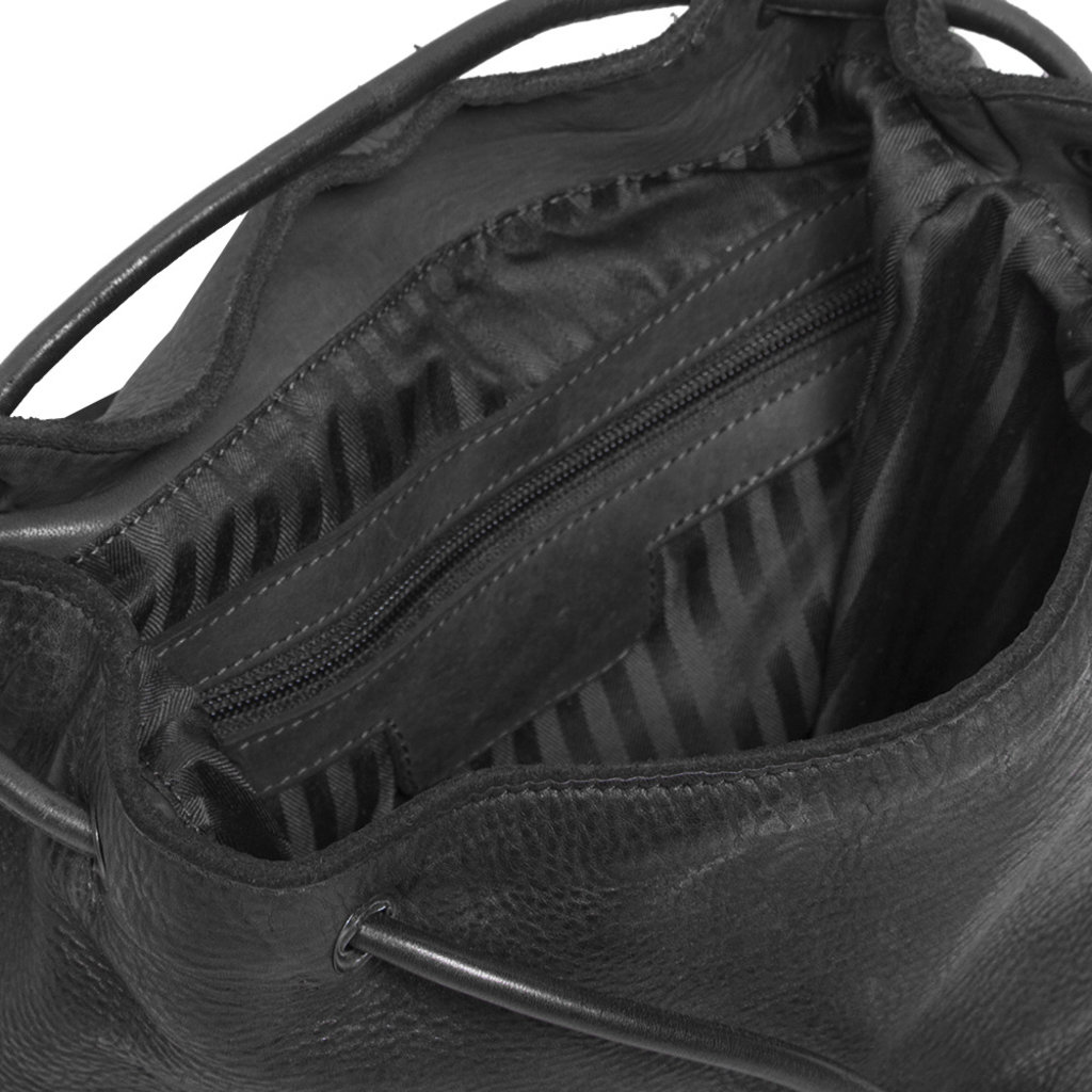 Justified Bags® Goa Lederen Backpack Black