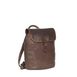 Justified Bags® Goa Lederen Backpack / Rugtas Bruin