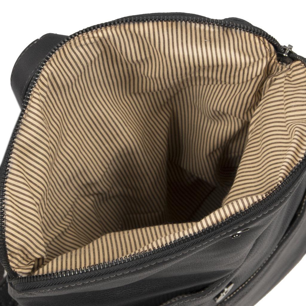 Justified Bags® Brugge Lederen Backpack / Rugtas  Zwart