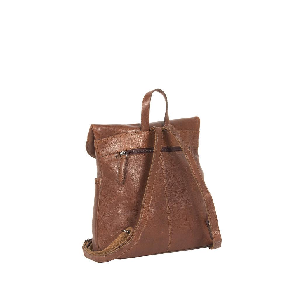 Justified® Brugge  Lederen Backpack -  Rugtas Cognac