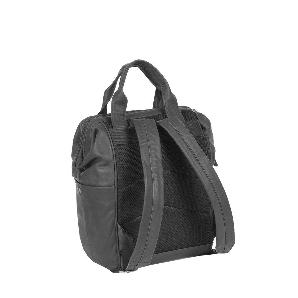 Justified Bags® Yara City  Lederen Backpack / Rugtas   Black