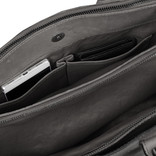 Justified Bags® Pluto Flamed Business Bag Grey