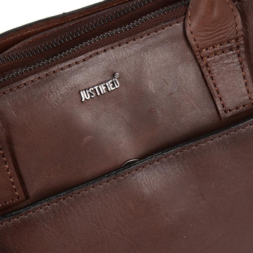 Justified Bags® Pluto Flamed Business Bag Brown