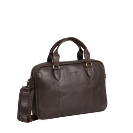 Justified Bags Max brown laptop business bag  A4