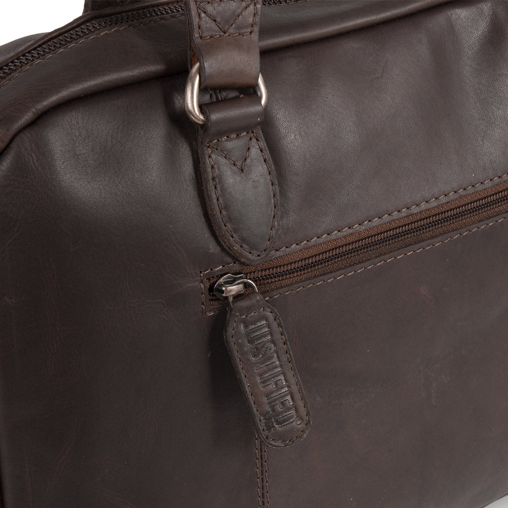Justified Max A4 Laptop Bag Brown