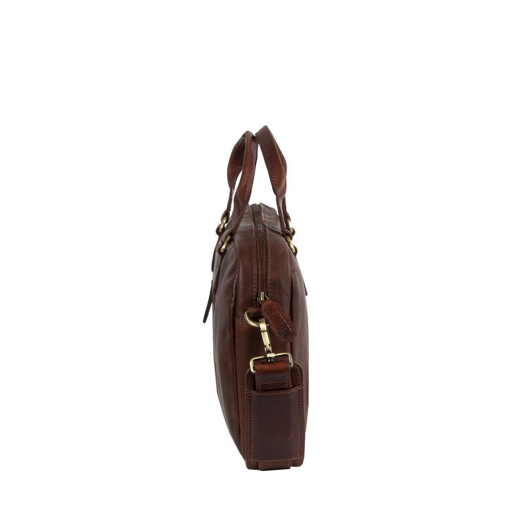 Justified Max A4 Laptop Bag Cognac