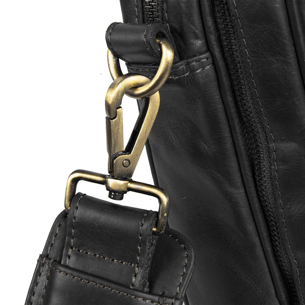 Justified Bags® - Max Laptop Business Bag - Laptoptas - Aktetas - 13'' Laptop - Leer - Zwart