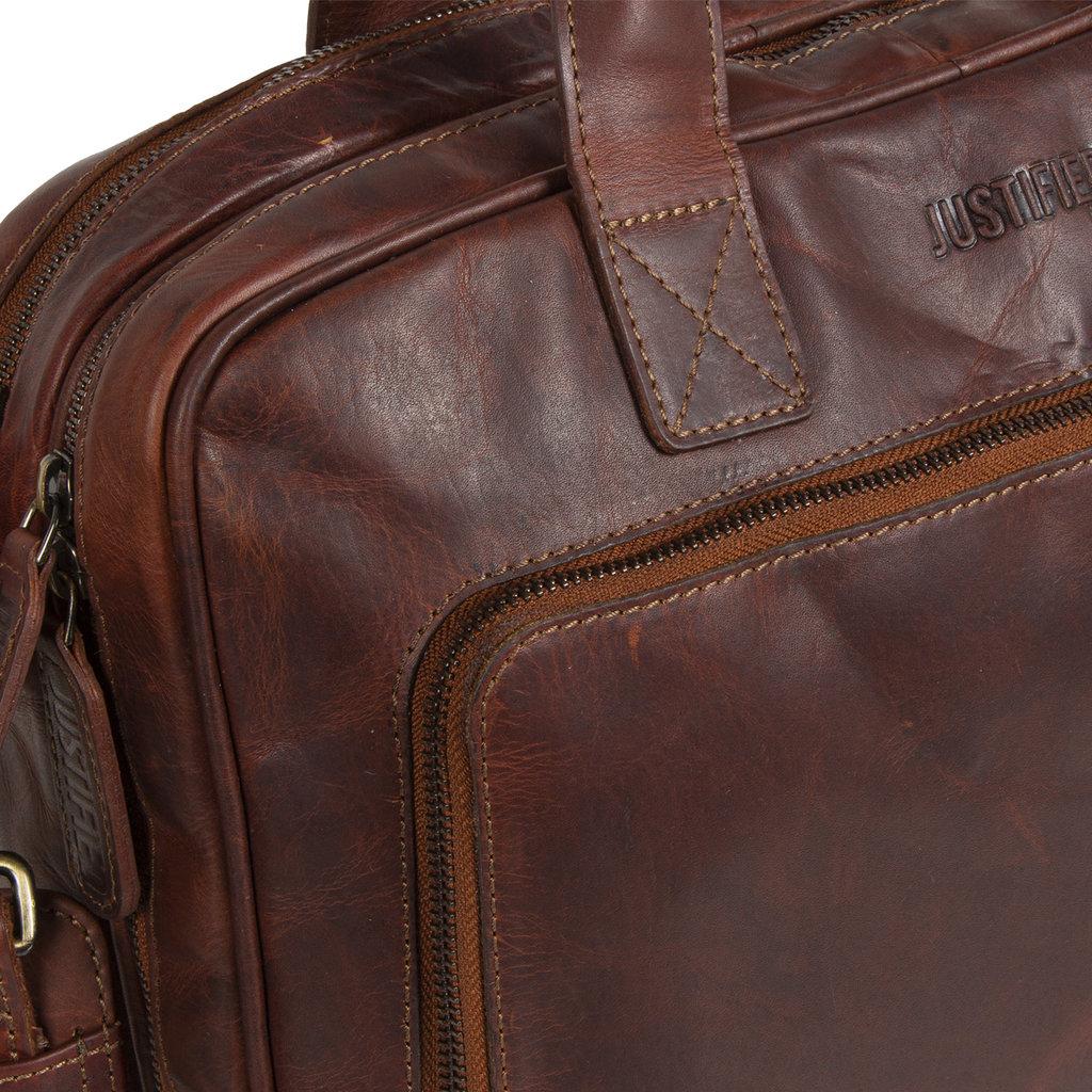 """Justified Bags Max 13"""" Laptop Bag Cognac"""