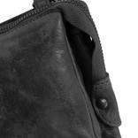 Justified® Roma 3 Compartimenten Top Zip Black