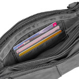 Justified Bags®  Roma 3 Compartimenten Top Zip Grey