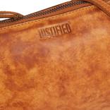 Justified Bags® Roma 3 Compartimenten Top Zip Cognac