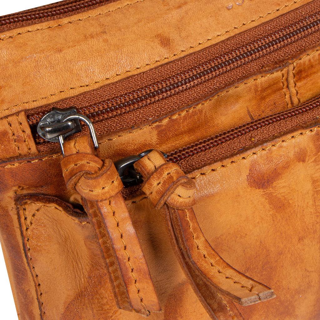 Justified Bags® Roma Top Zip Cognac