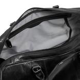 Justified Bags® Mantan Duffel - Weekend bag - Travel bag - 44L - Leather - 55x23x32cm - Black