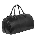 Justified Bags® - Mantan Duffel - Weekendtas - Reistas - 44L - Leer - Zwart