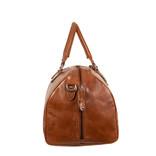 Justified Bags® Mantan Duffel - Weekend bag - Travel bag - 44L - Leather - 55x23x32cm - Cognac