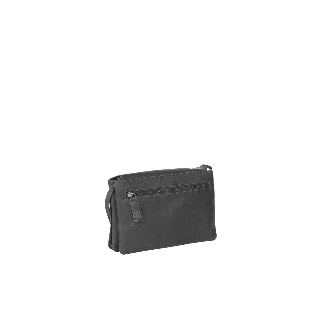 Deborah 2 Compartments Small Shoulderbag Black