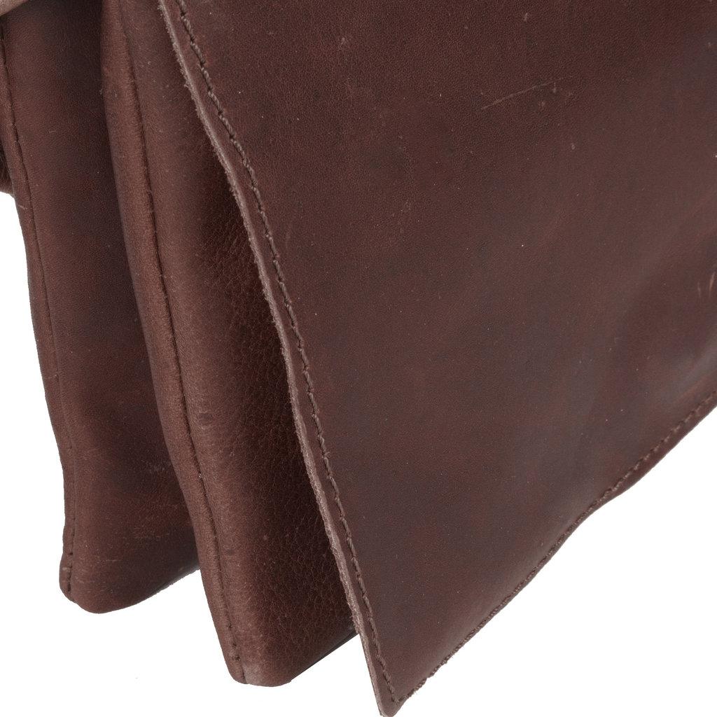 Deborah  2 Compartments Small Shoulderbag Brown