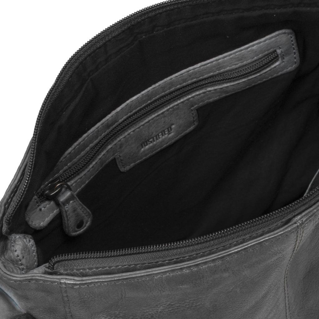 Justified Bags®  Kailash - Top Zip - Medium - Shoulder bag - 30x8x25cm - Black
