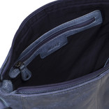 Justified Bags® Kailash - Shoulder bag - Large - Top Zip - 30x8x25cm - Blue
