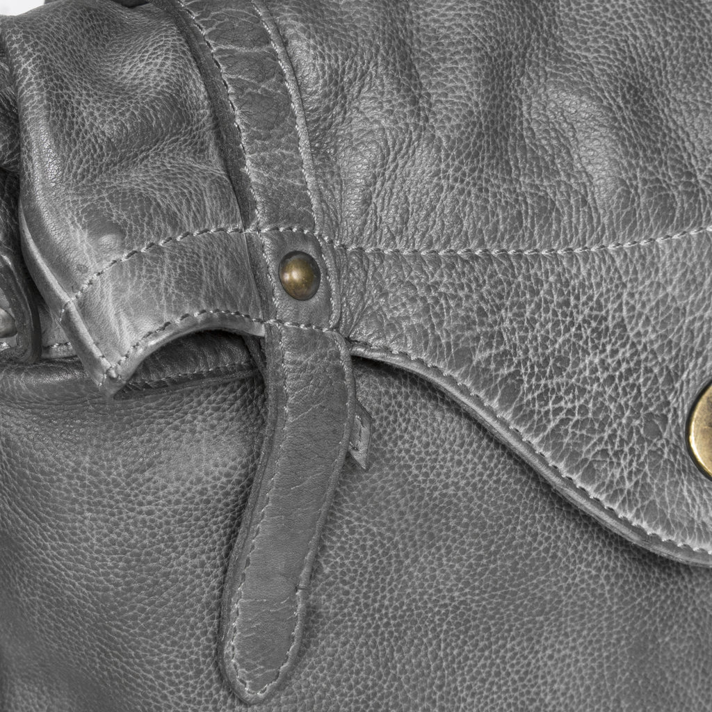 Justified Bags® - Sakura - Rugzak - Handtas - Shopper - Leer - Grijs