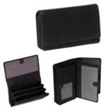 Justified Bags® Nynke - Wallet - Leather - 16x5x10cm - Black