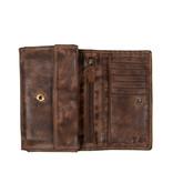 Justified Bags® Chantal - Wallet - Leer - 15x4x10cm - Brown