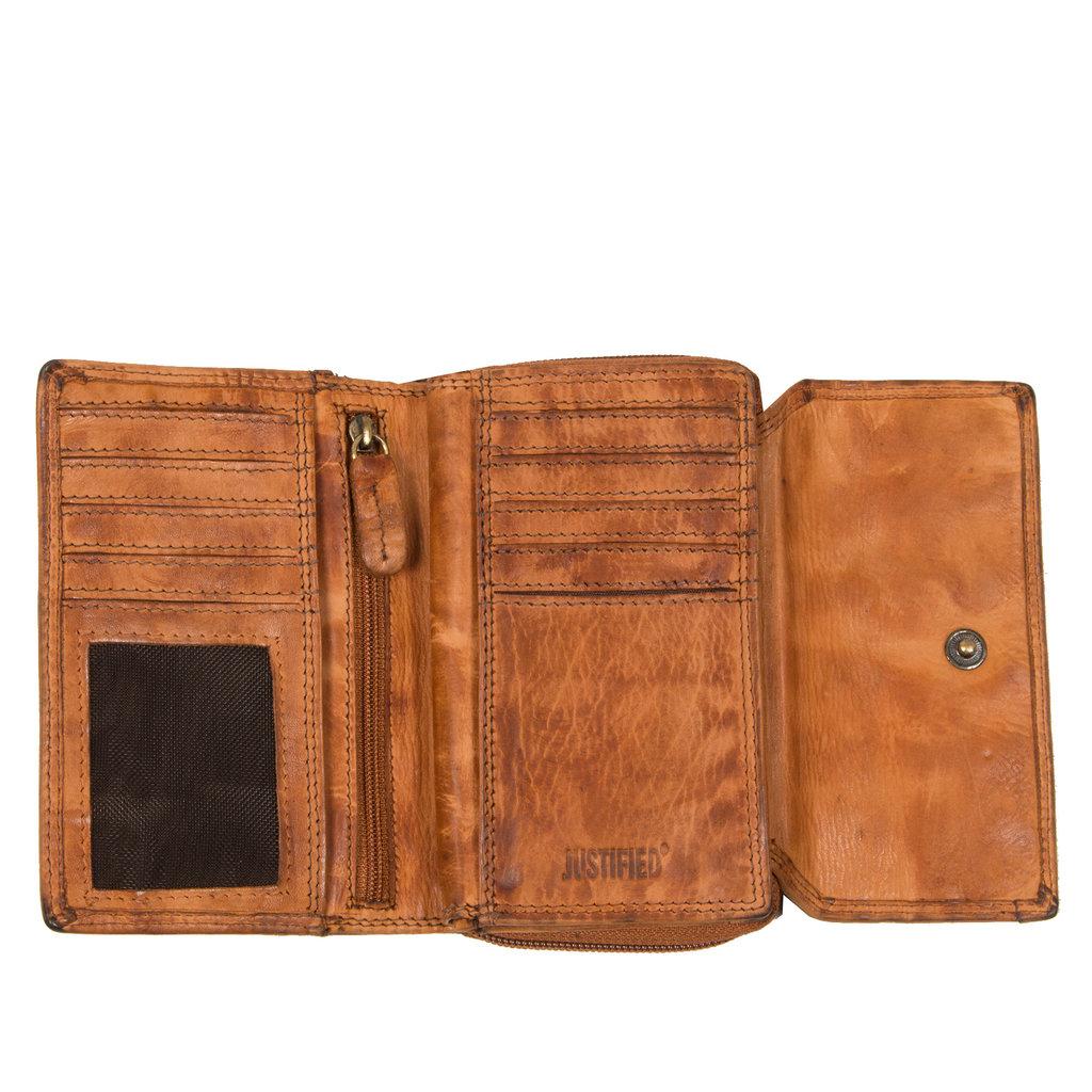 Chantal Wallet Compartments Cognac